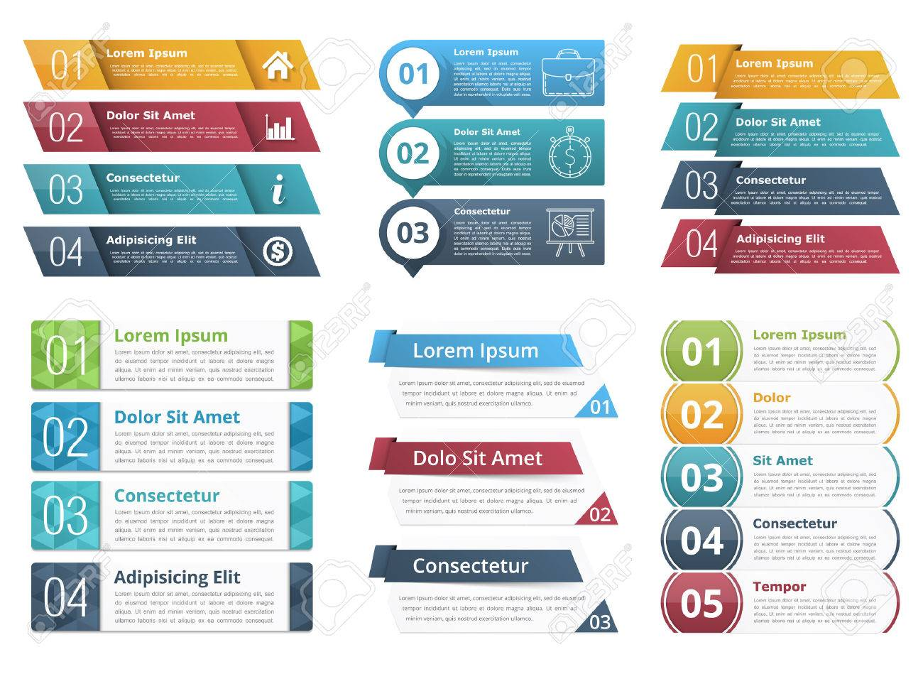 Infographic templates with numbers and text business infographics infographic templates with numbers and text business infographics elements set stock vector 53055716 flashek Image collections