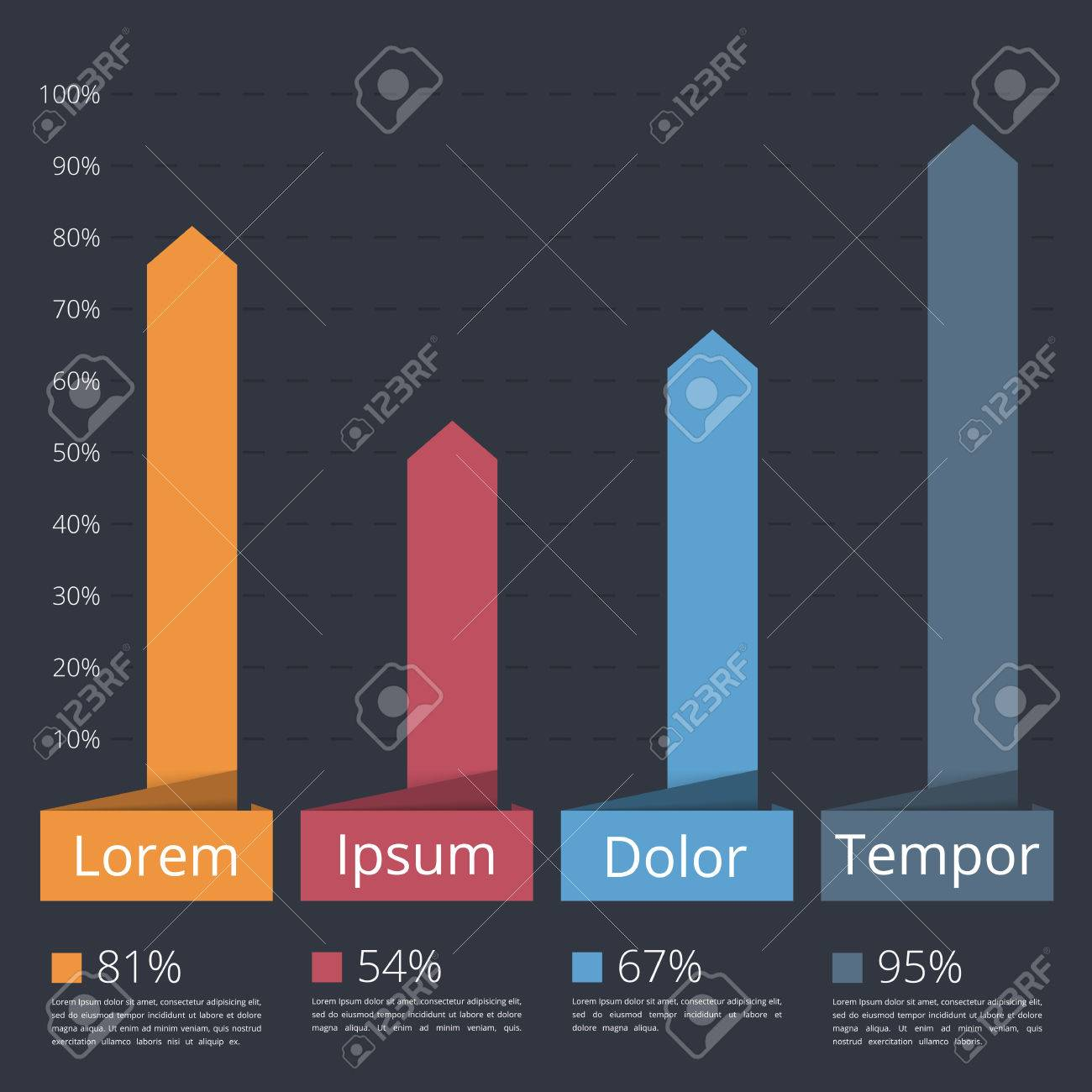 Bar Chart Template, Vertical Bars Showing Different Value Of ...