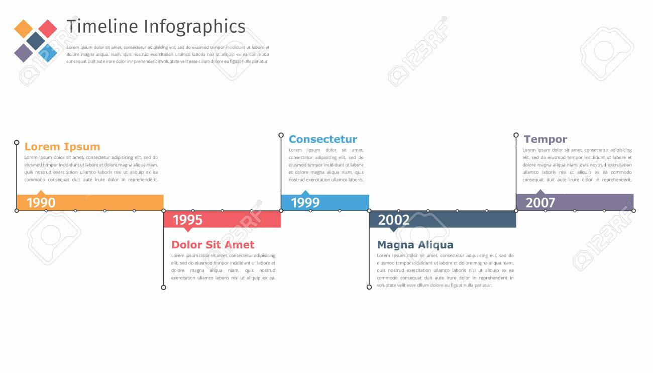Timeline Infographics Template Flowchart Workflow Or Process - Process timeline template