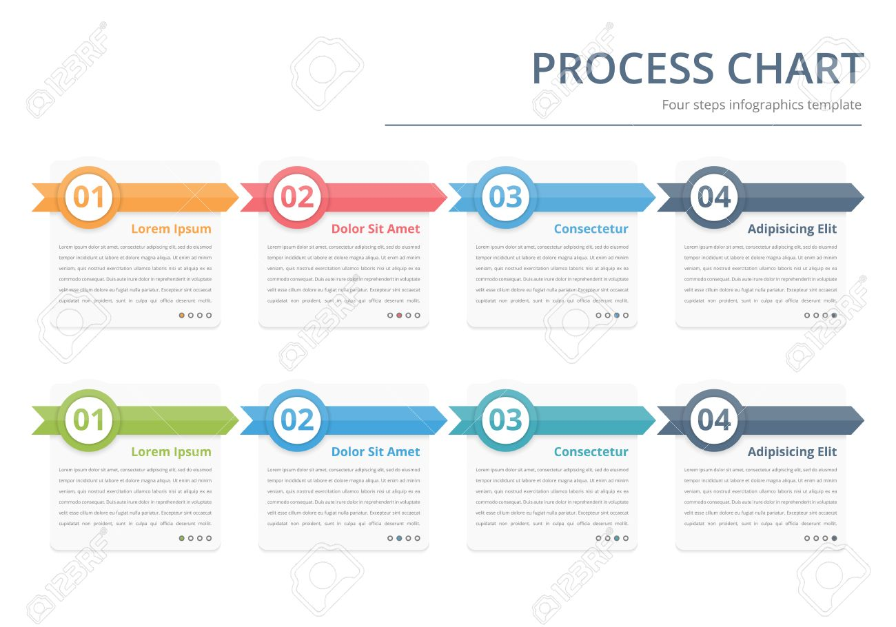 Process chart flow chart template infographics design elements process chart flow chart template infographics design elements with numbers and text wajeb Images