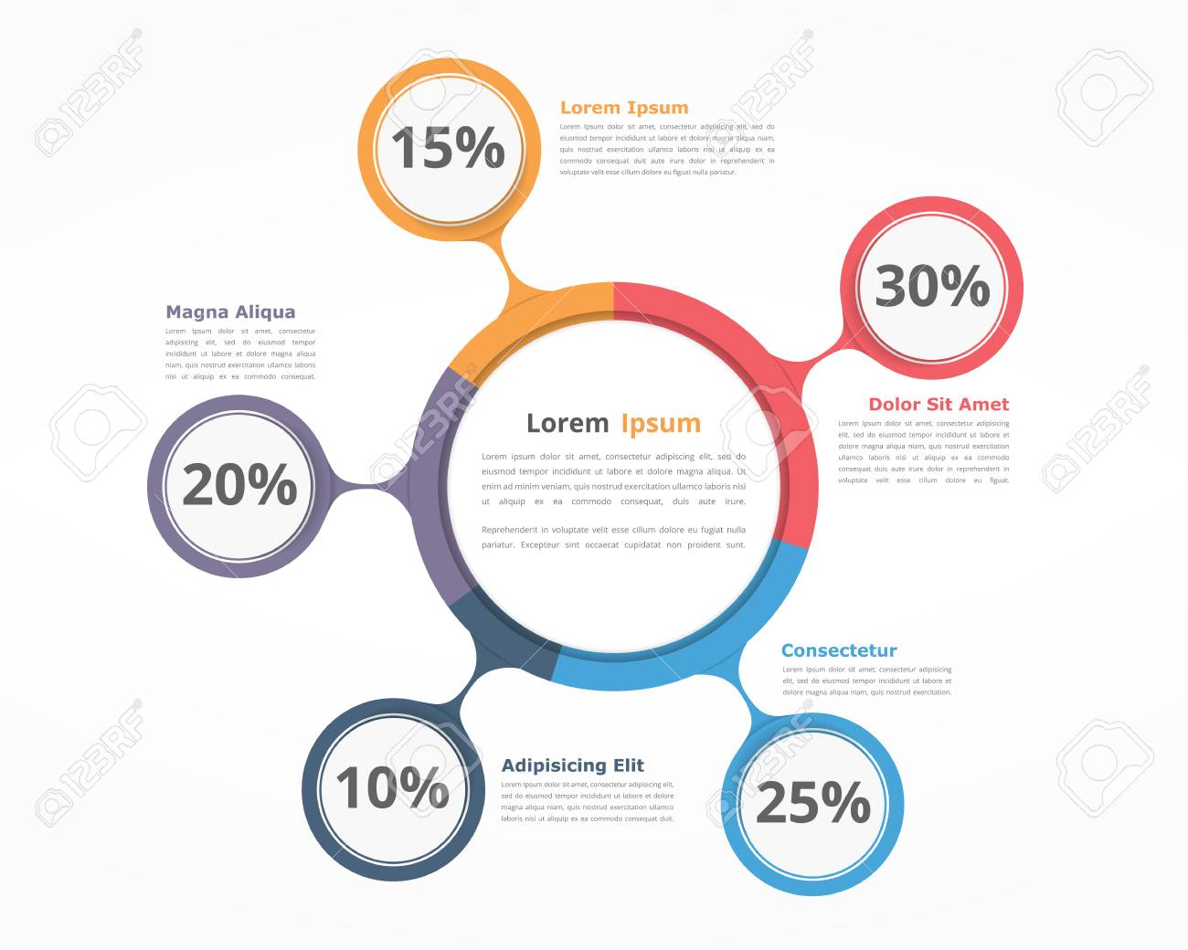 Pie Chart Design Template Business Infographics For Presentations