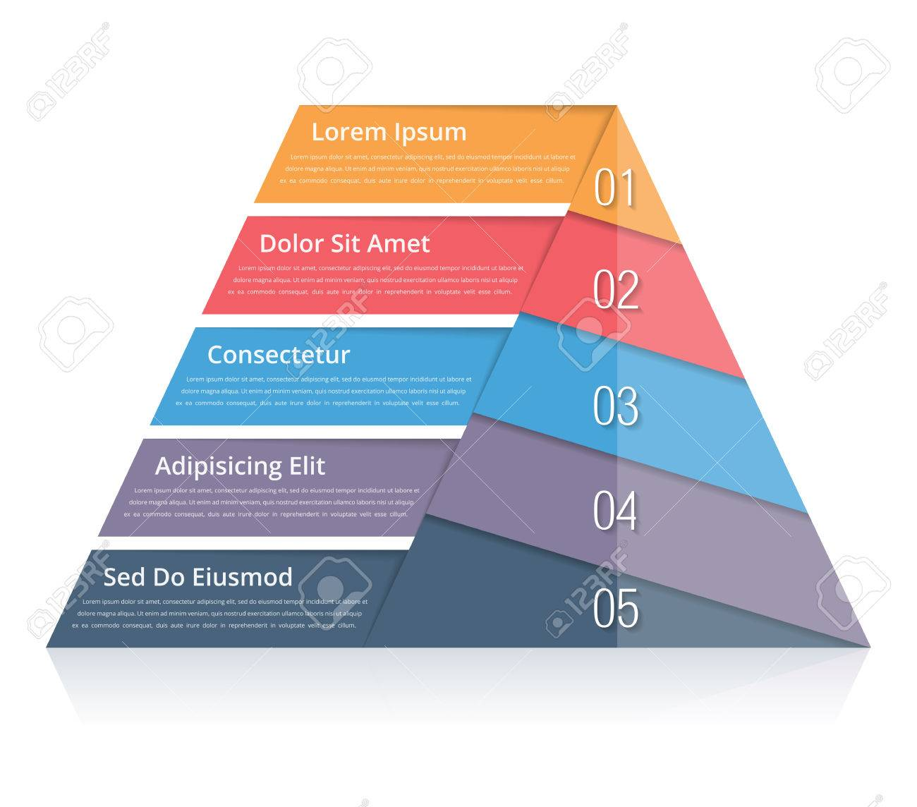 Pyramid chart with five elements with numbers and text pyramid banco de imagens pyramid chart with five elements with numbers and text pyramid infographic template pyramid diagram for presentations ccuart Images