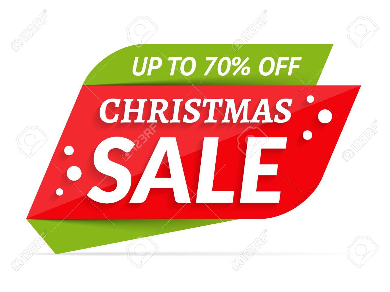 Christmas Sale banner, 70% off vector illustration. - 88539863