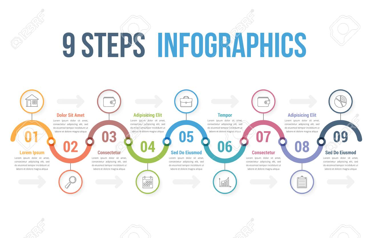 Infographic Template With Steps Or Options Workflow Process - Workflow process template