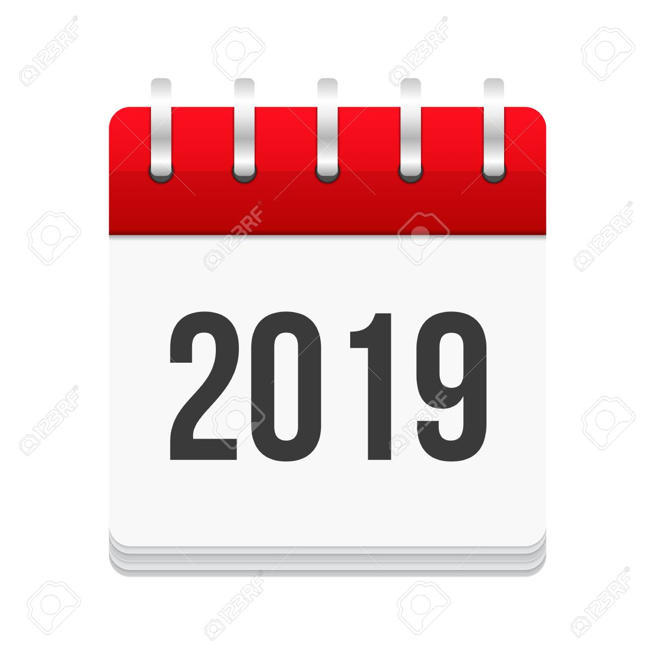 2019 Calendar Icon Royalty Free Cliparts Vectors And Stock