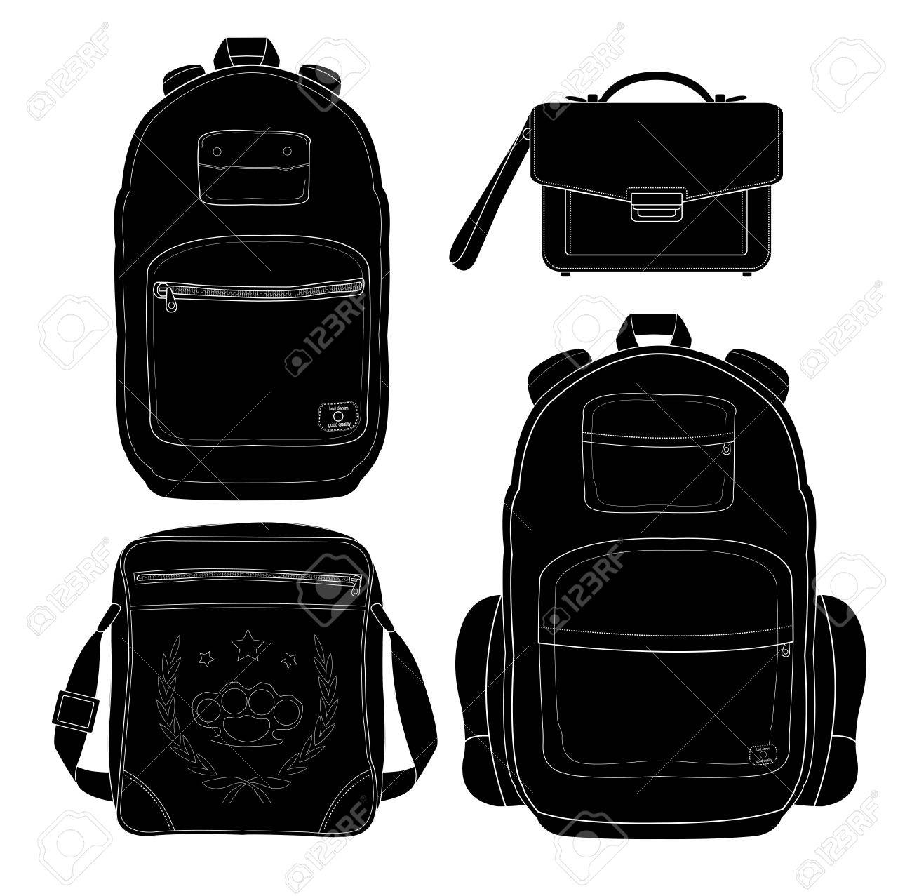 801f732c1e8 Set of 4 fashionable men bags  urban backpack, briefcase, shoulder bag,  travel