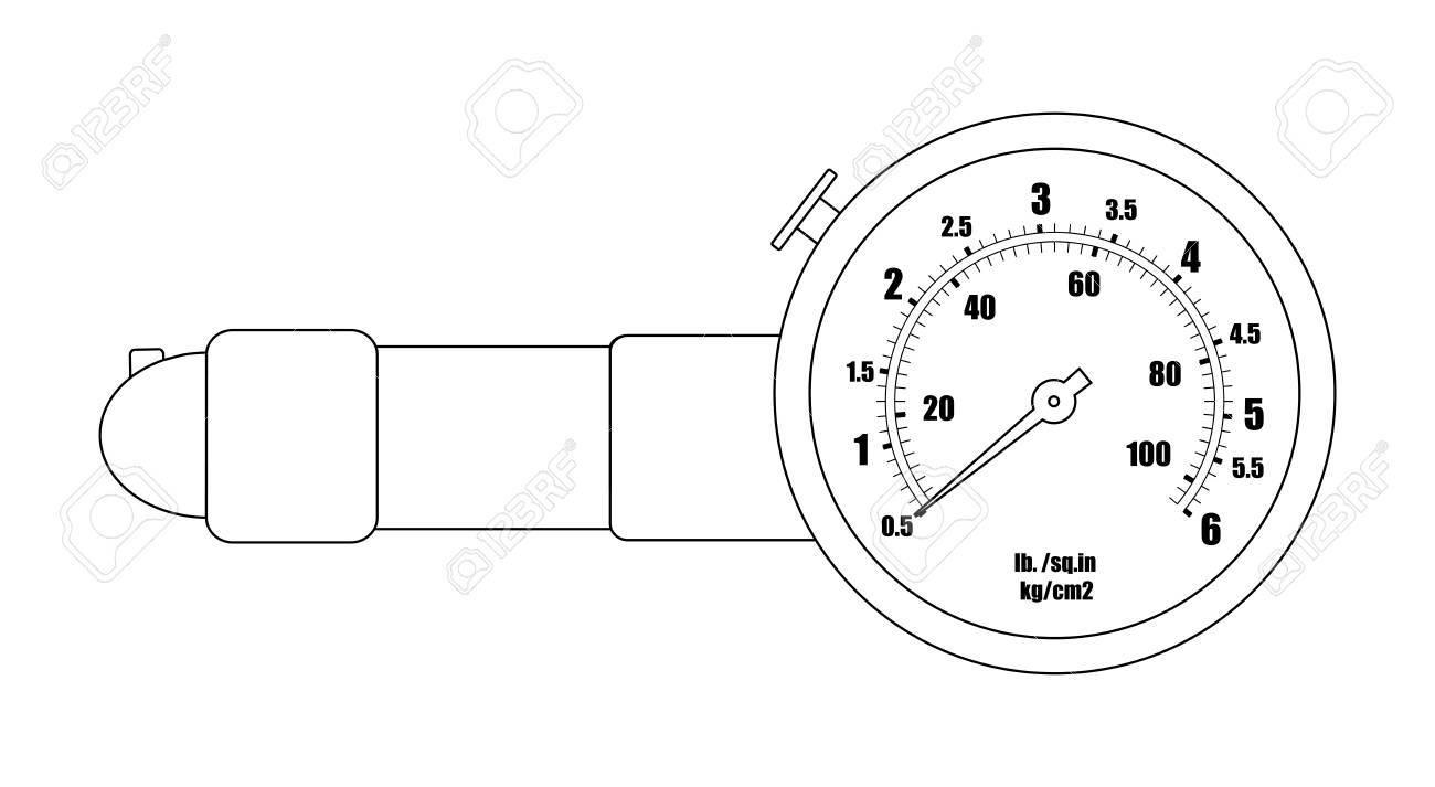 tire pressure gauge mechanic measurement auto service toolbellow type pressure gauge