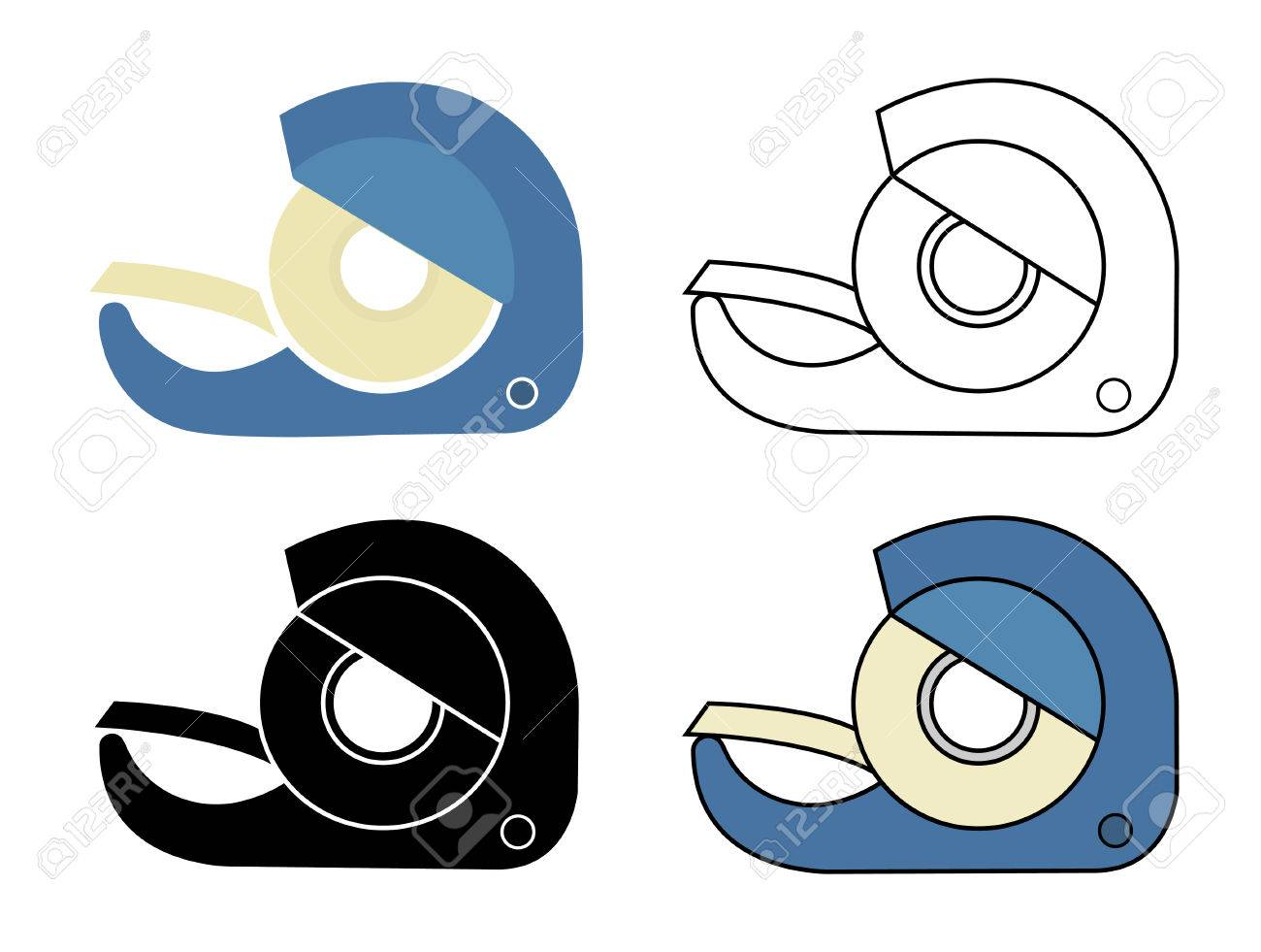 scotch tape icons set vector clip art illustrations isolated rh 123rf com duct tape clipart movie tape clipart