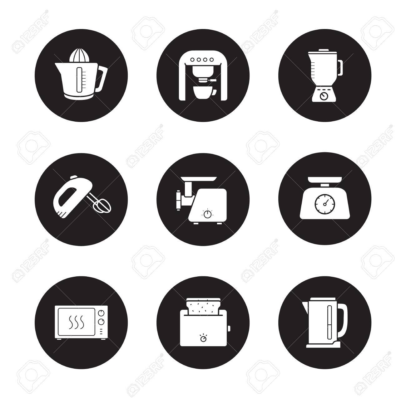 Electrical Wiring Symbols Modern Home Automotive Diagram Residential Types Kitchen Electronics Icons Set Devices Rh 123rf Com Of Basic