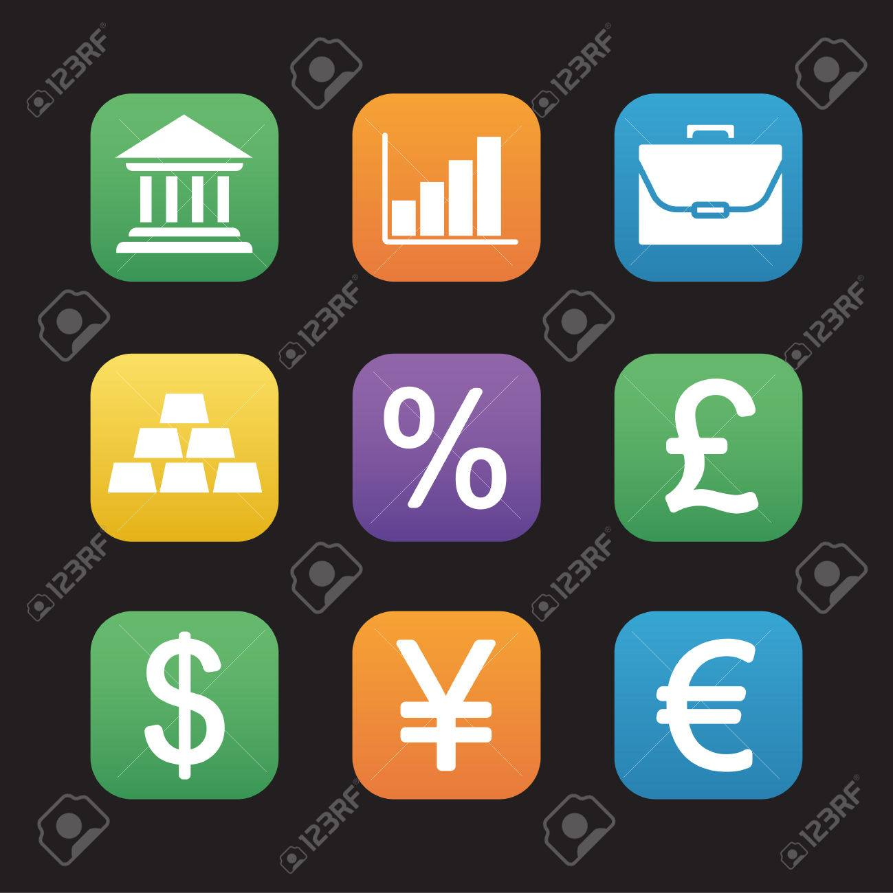 Finance and banking flat design icons set trading and stock finance and banking flat design icons set trading and stock market web application interface biocorpaavc Images