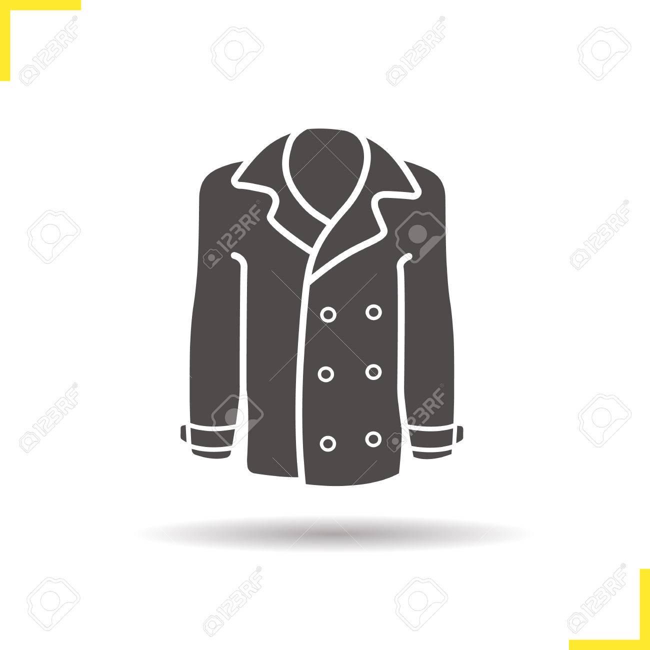 Ombre Hommes Icône Symbole Jakcet Portée Les Et Silhouette Manteau 1CfxqSZWwq