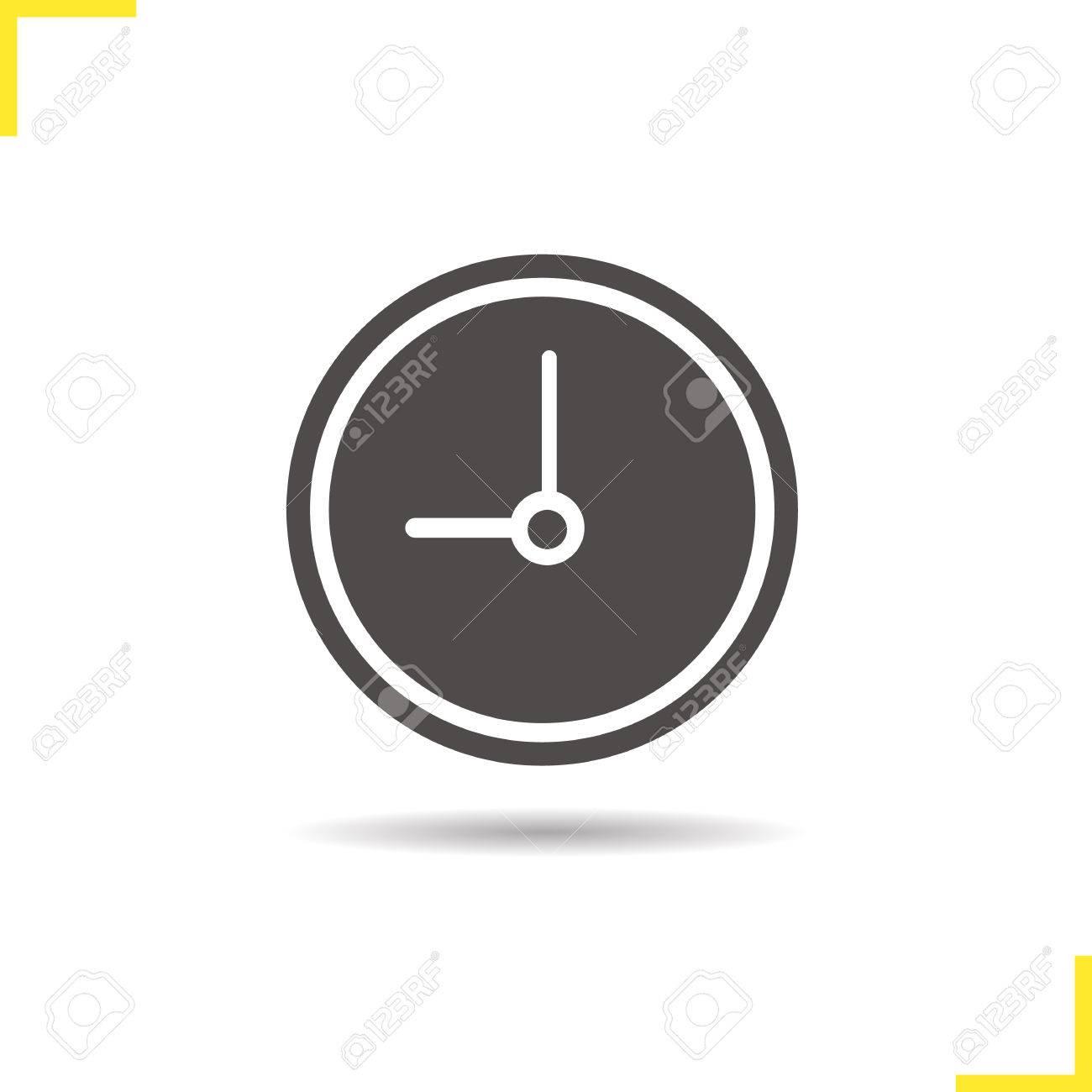 Symbol Uhr Drop Silhouette Symbol Schatten Zeit Haus Und Buro