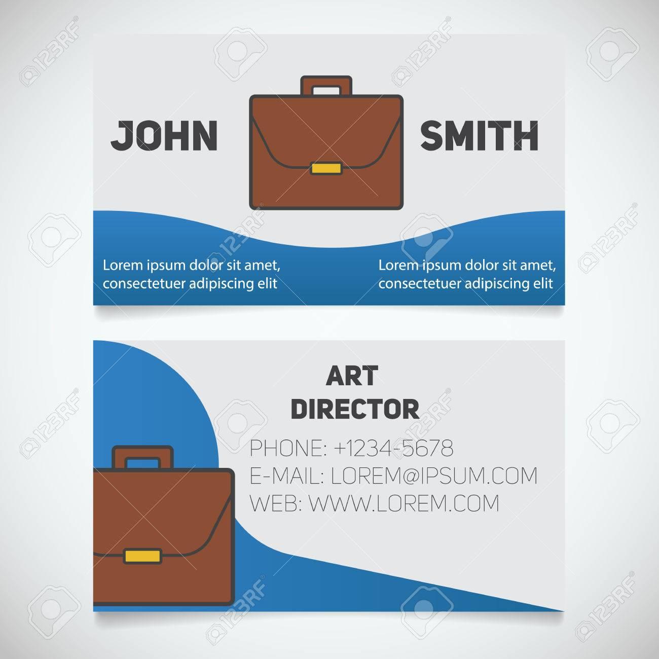 Business Card Print Template. Art Director. Briefcase Logo ...