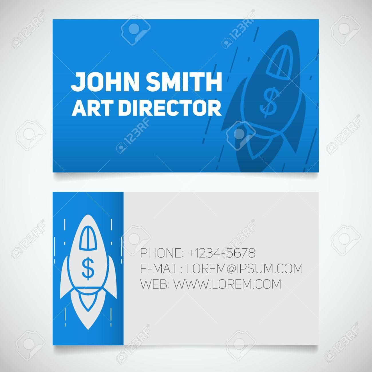 Business Card Print Template. Art Director. Spaceship. Goal ...