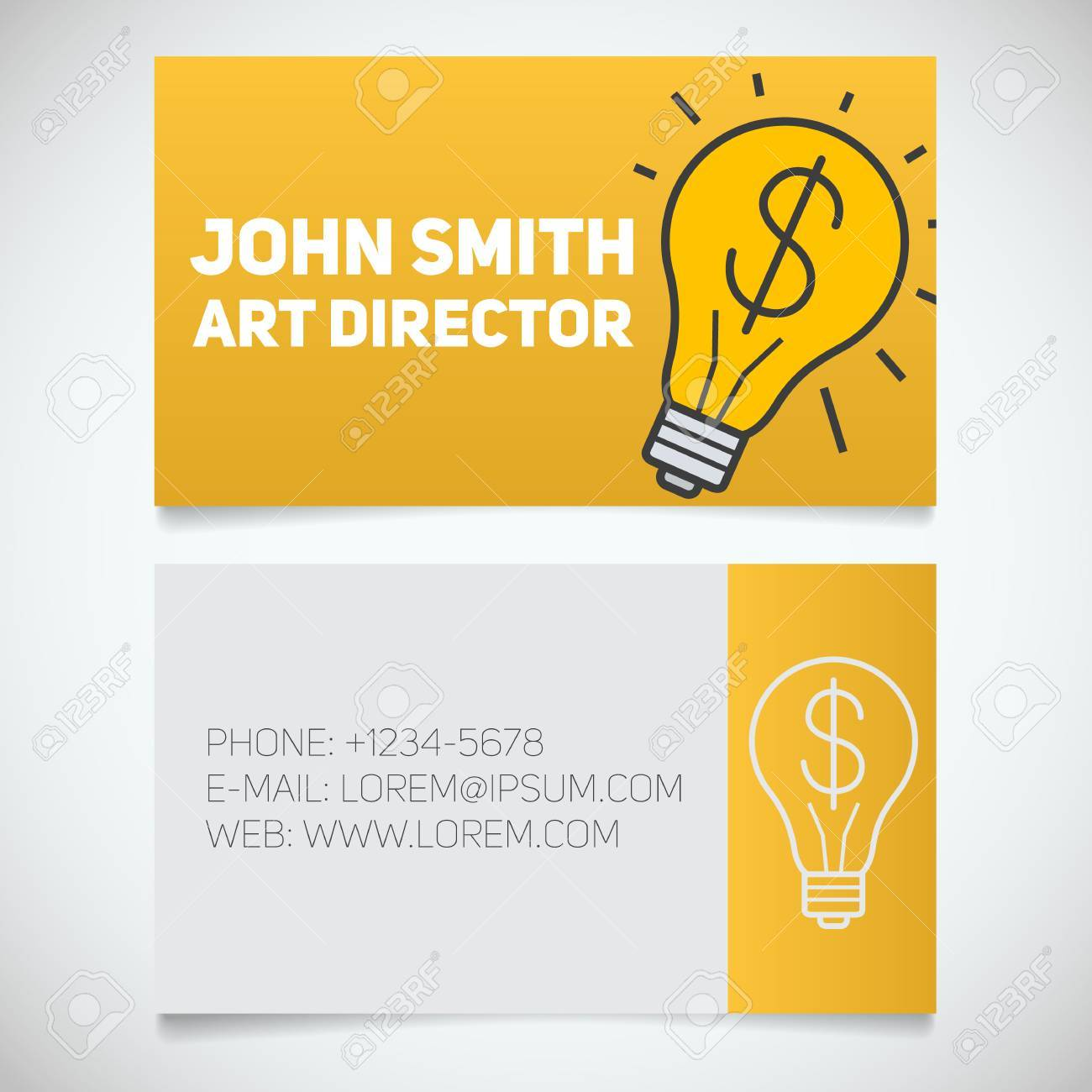 Business Card Print Template With Startup Logo. Creative Director ...