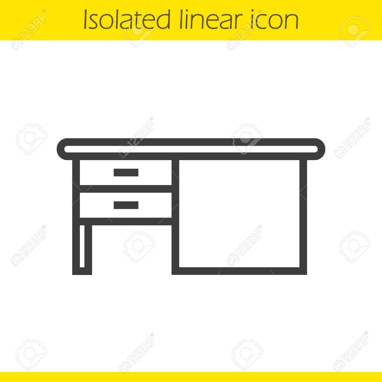 Icono De Escritorio Lineal. La Ilustración De La Forma. Escribiendo ...