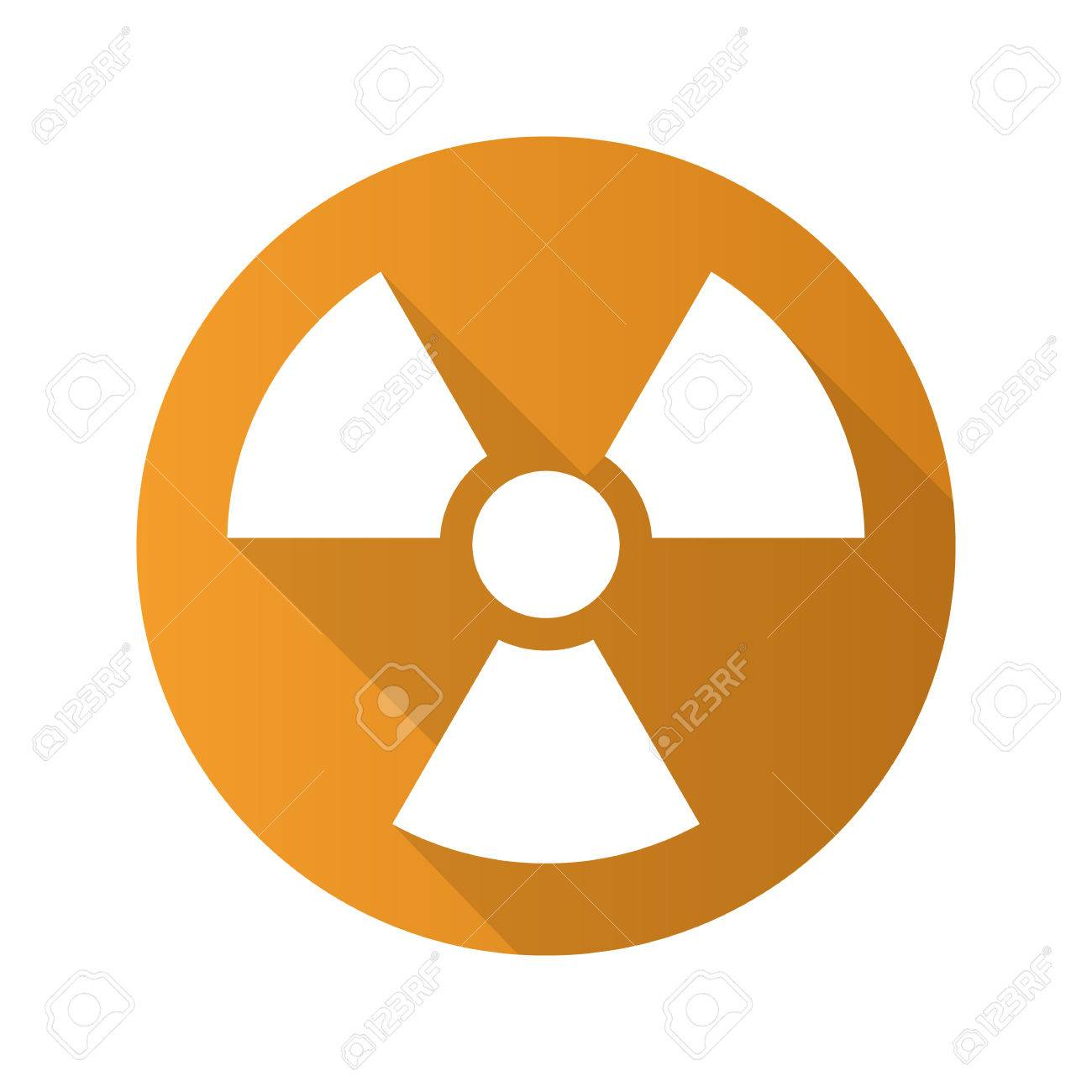 Radiation sign flat design long shadow icon radioactive danger radiation sign flat design long shadow icon radioactive danger symbol nuclear energy vector biocorpaavc Gallery