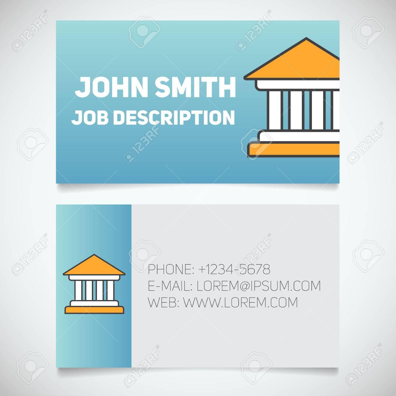 Carte De Visite Modle Dimpression Avec Palais Justice Logo