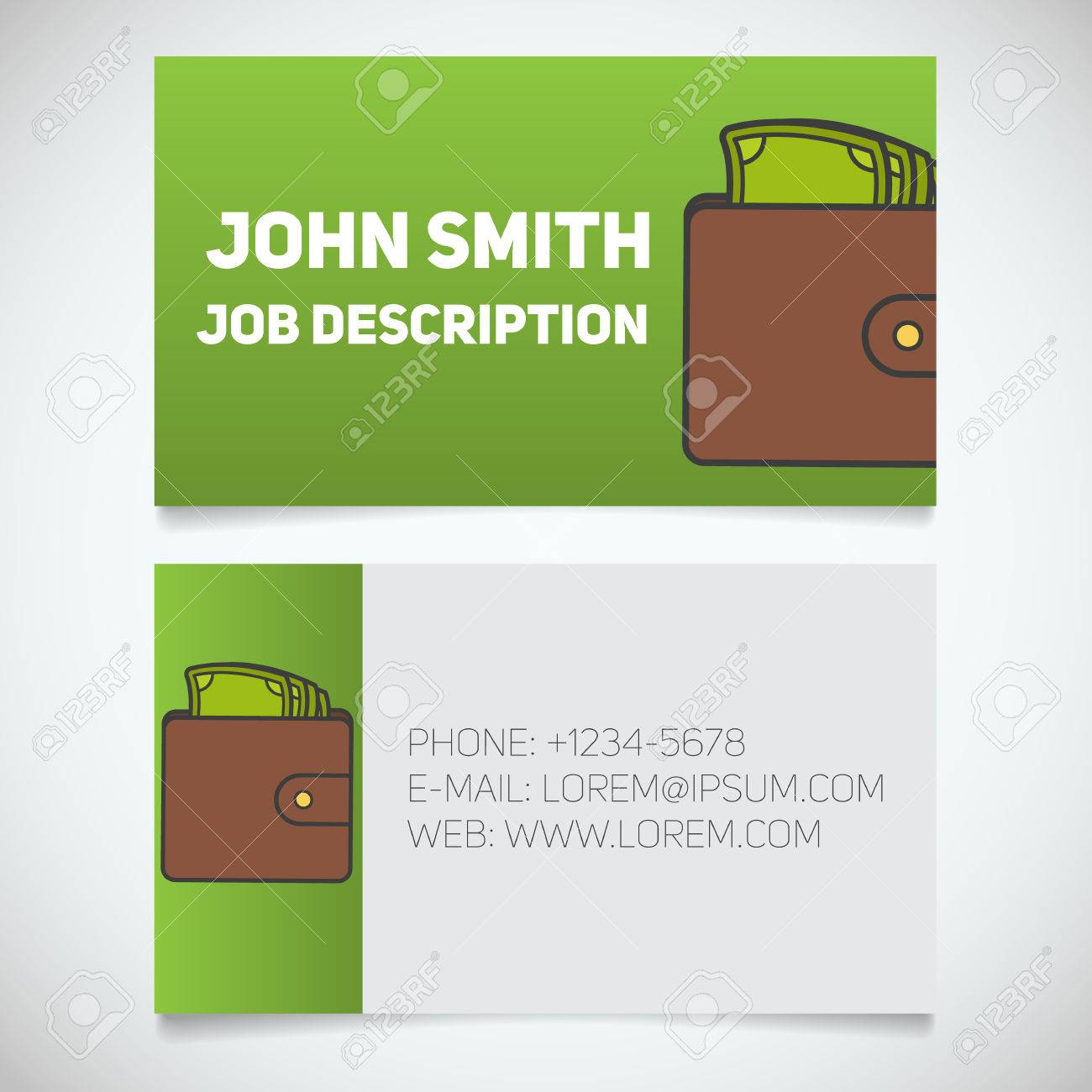 Business card print template with wallet and cash logo easy business card print template with wallet and cash logo easy edit businessman purse colourmoves