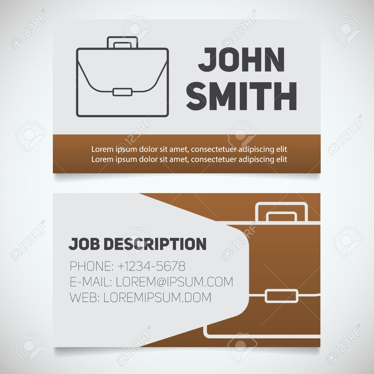 Business card print template with briefcase logo easy edit business card print template with briefcase logo easy edit manager work management flashek Images