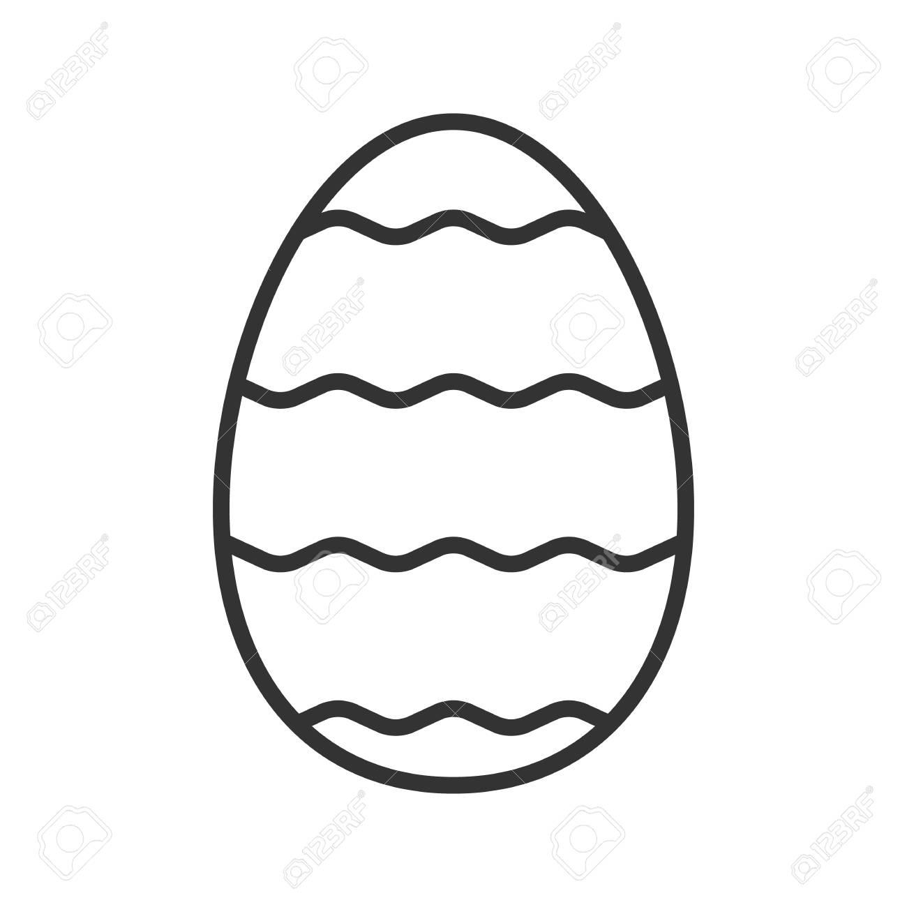 Easter egg linear icon thin line illustration easter egg with easter egg linear icon thin line illustration easter egg with waves pattern contour symbol buycottarizona
