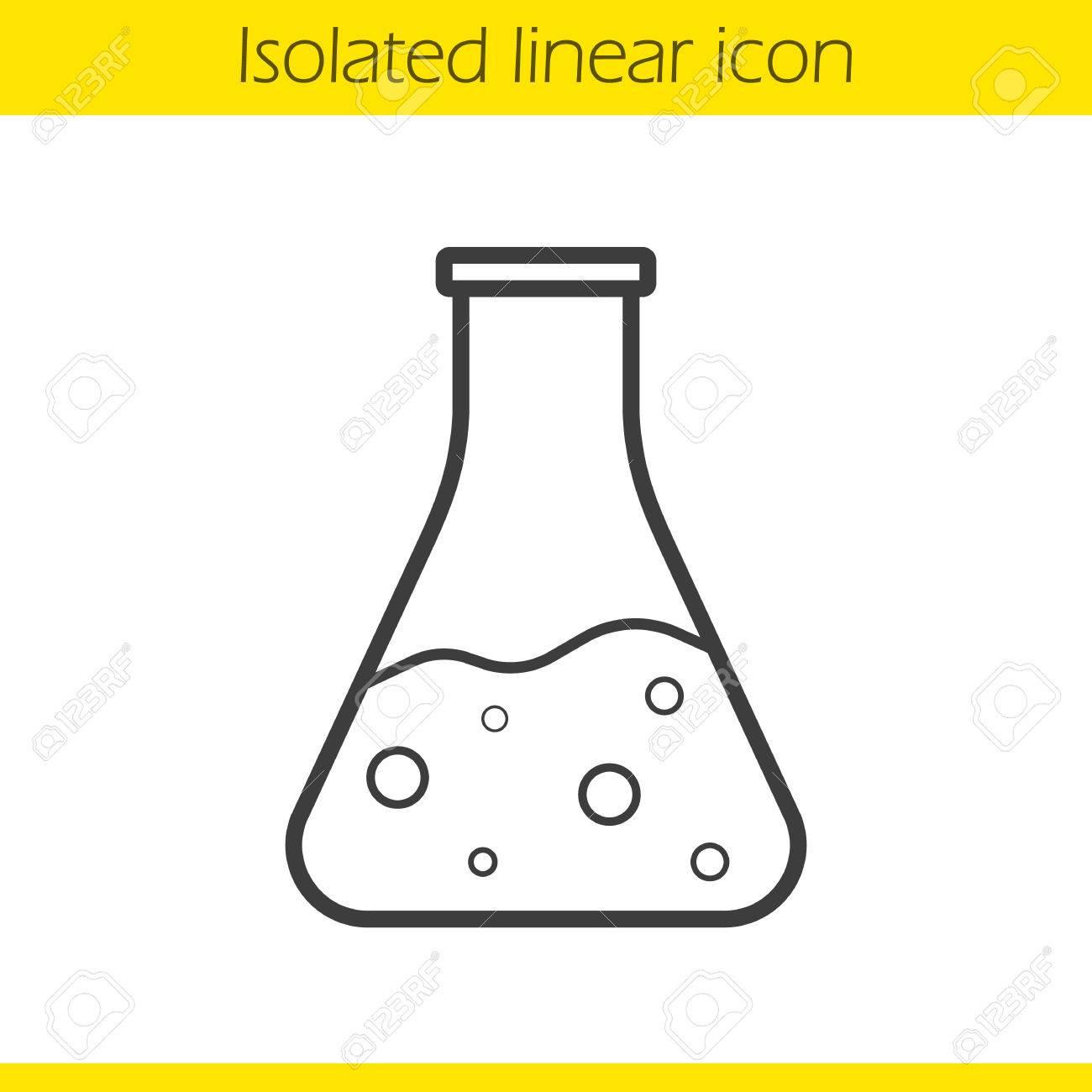 Chemical reaction linear icon thin line illustration medical chemical reaction linear icon thin line illustration medical lab beaker potion bottle biocorpaavc Choice Image