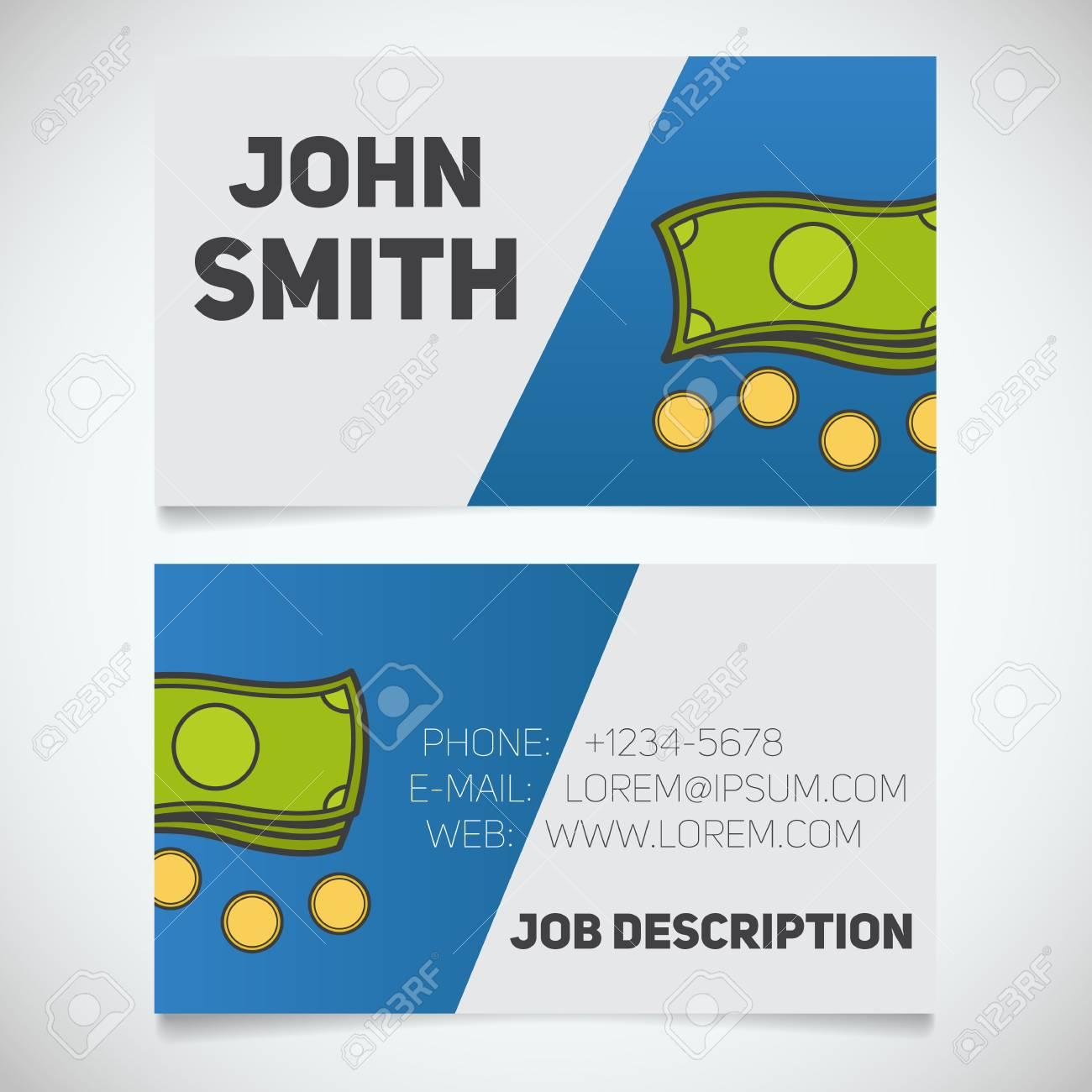 Modle De Carte Visite Avec Le Logo Cash And Coins Dition