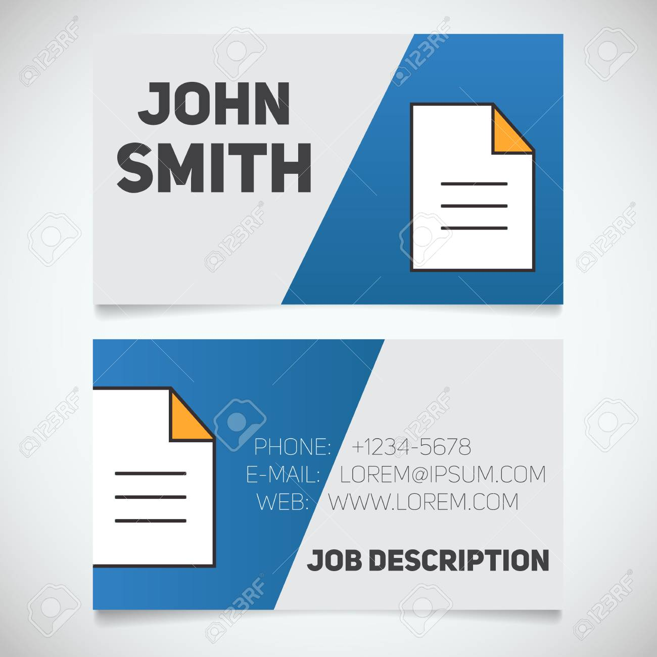 Business card print template with document logo easy edit editor business card print template with document logo easy edit editor writer stationery reheart Image collections