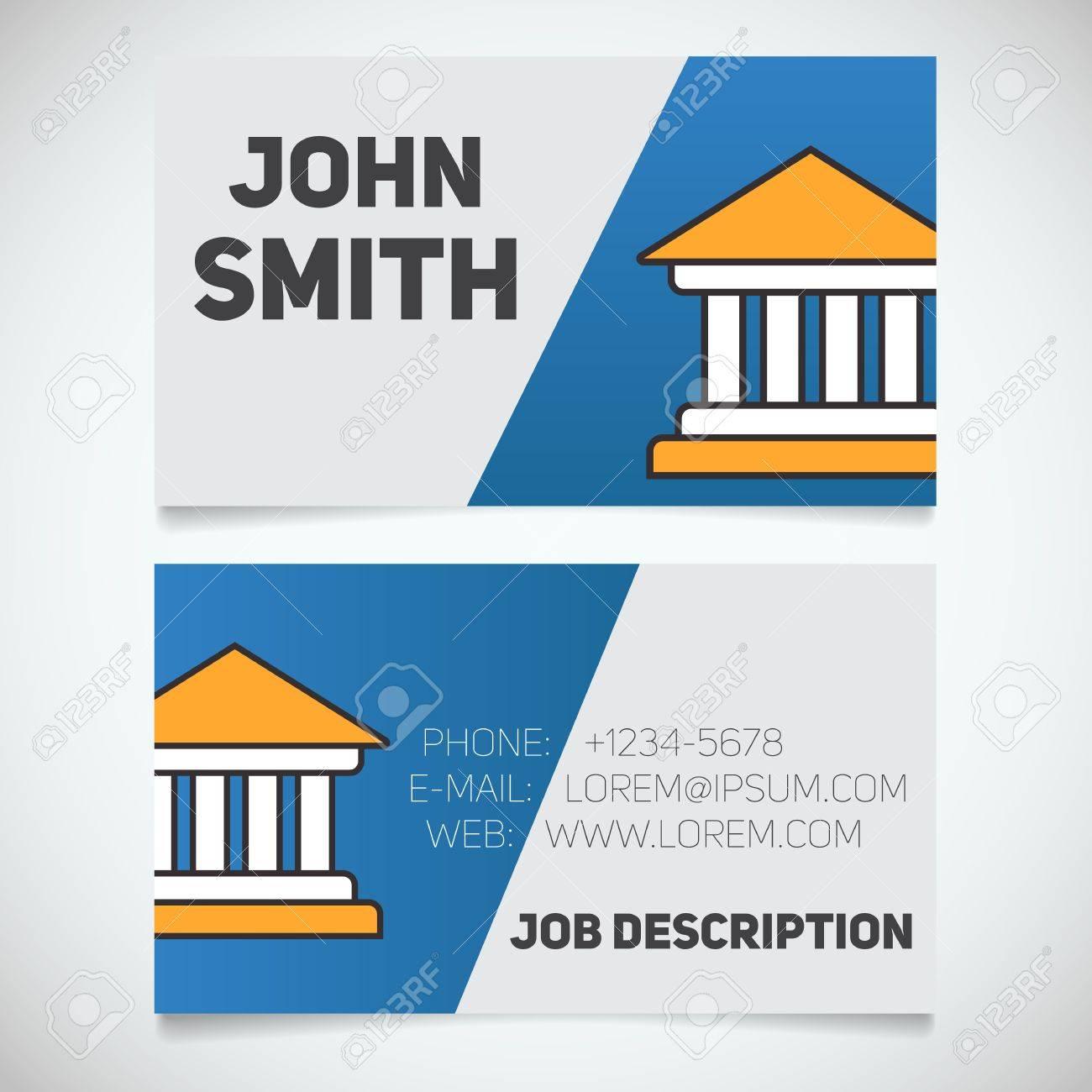 Modle Dimpression De Carte Visite Avec Logo Palais