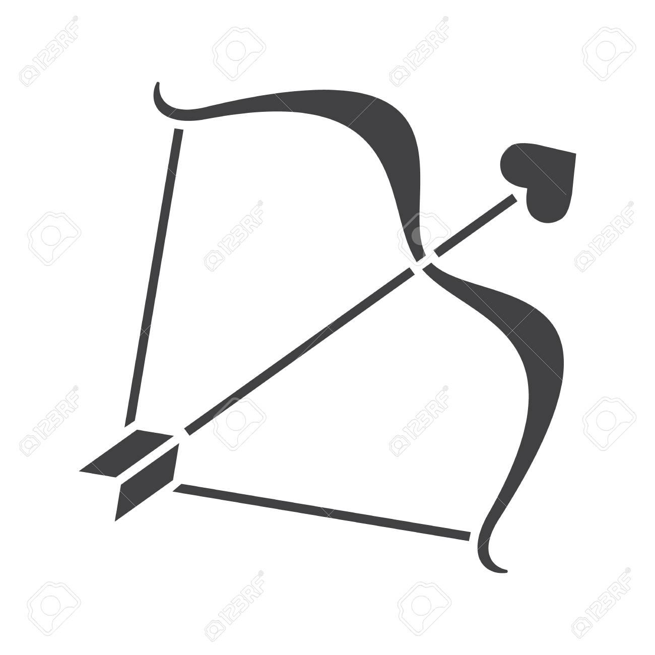 cupid s bow and arrow glyph icon silhouette symbol negative rh 123rf com Retro Clip Art Cupid's Arrow Cupid Arrow Clip Art Black and White