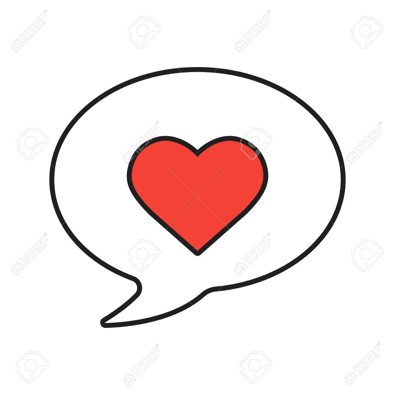 Icône Linéaire Damour Message Illustration De La Ligne Mince Sms Romantique Avec Symbole De Contour Du Coeur Dessin De Contour Isolé Vector