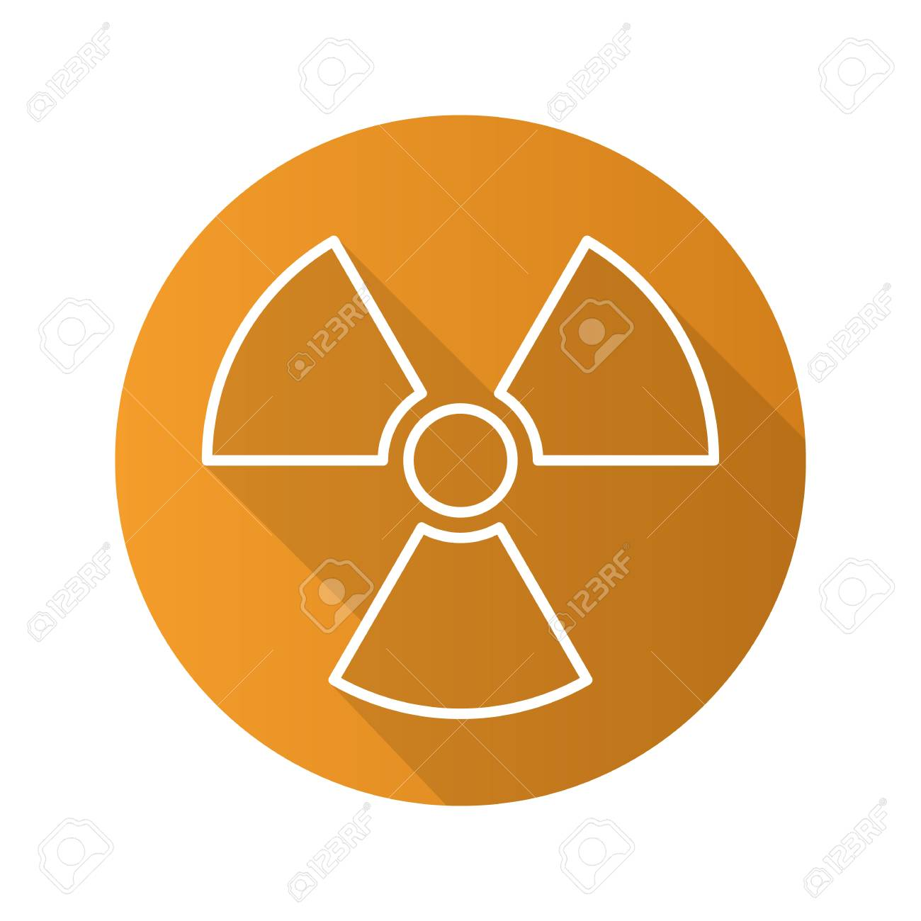 Radiation sign flat linear long shadow icon radioactive danger radiation sign flat linear long shadow icon radioactive danger symbol nuclear energy vector biocorpaavc Gallery