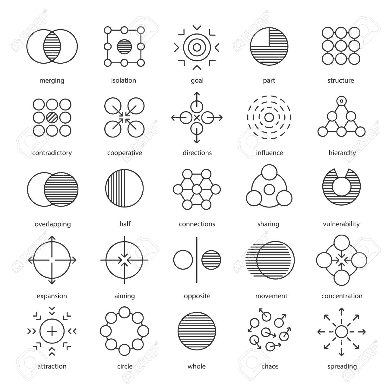 Abstract symbols linear icons set merging vulnerability aiming abstract symbols linear icons set merging vulnerability aiming sharing connections biocorpaavc Image collections