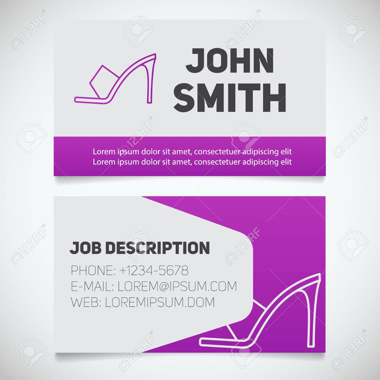 Business card print template images free business cards business card print template with high heel shoe logo manager business card print template with high magicingreecefo Gallery