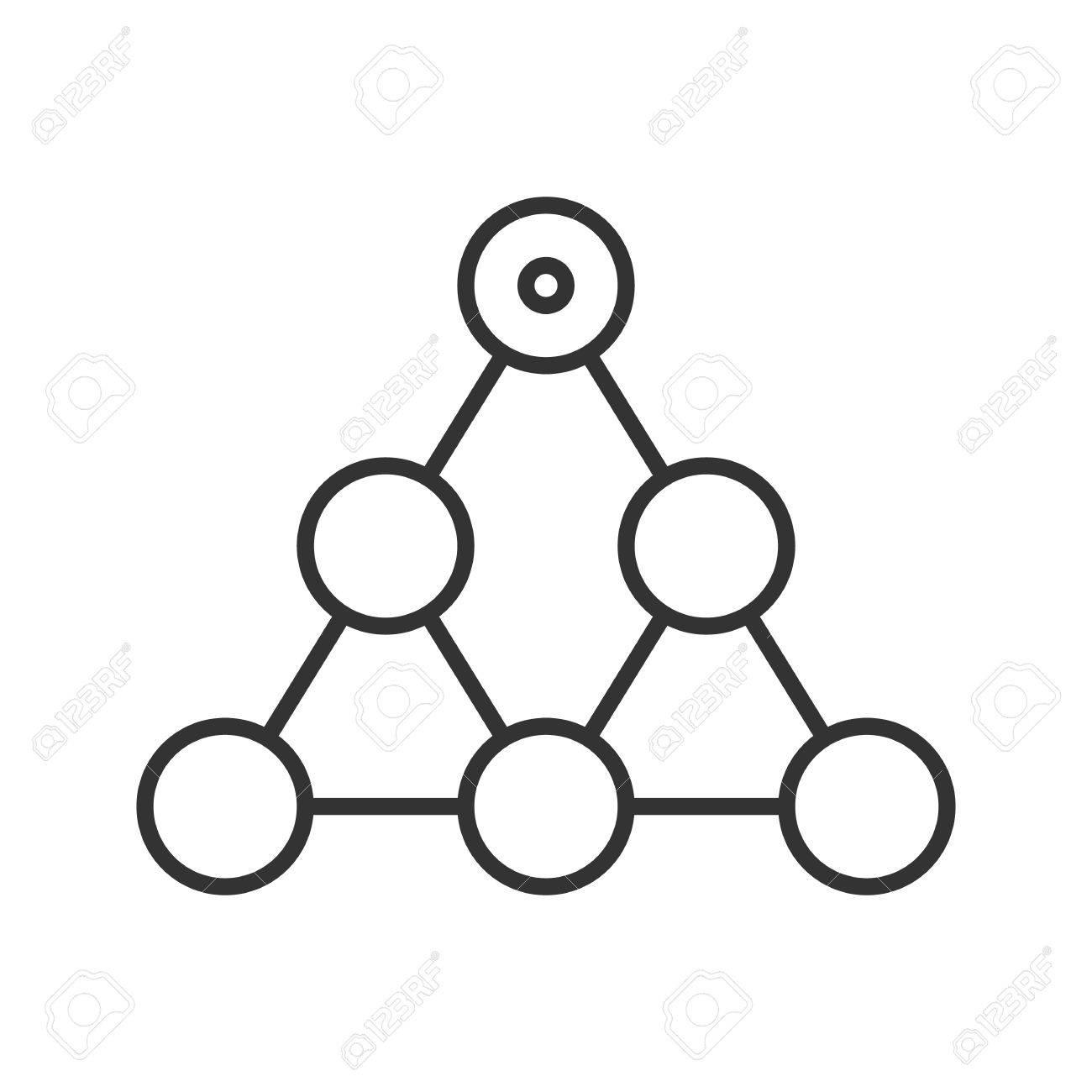 Icono Lineal De Jerarquía Ilustración De Línea Delgada Team Building Y El Concepto De Estructura Símbolo De Contorno Dibujo De Contorno Aislado Del