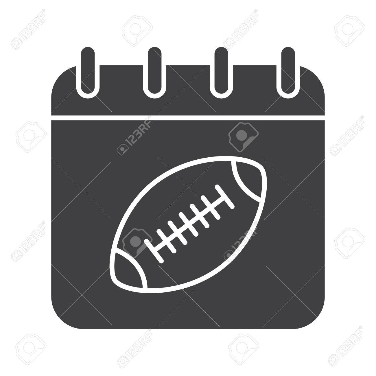 Super Bowl Date Glyph Icon Silhouette Symbol Calendar Page