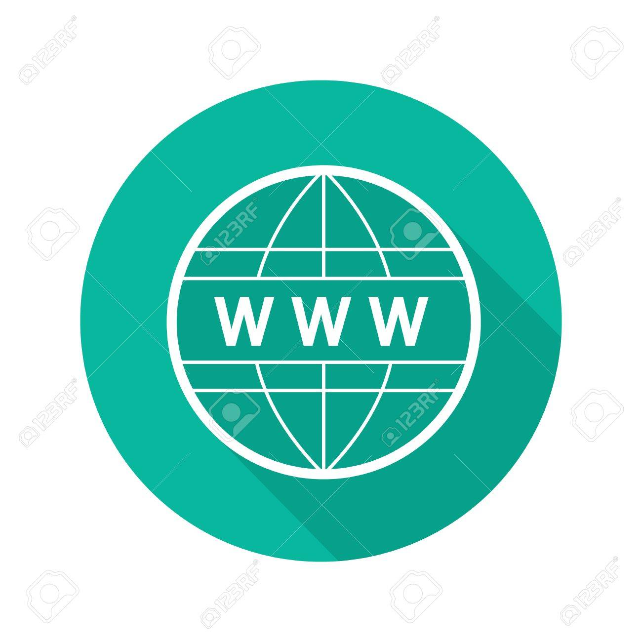 Global network flat linear long shadow icon internet connection global network flat linear long shadow icon internet connection www globe vector outline buycottarizona Images