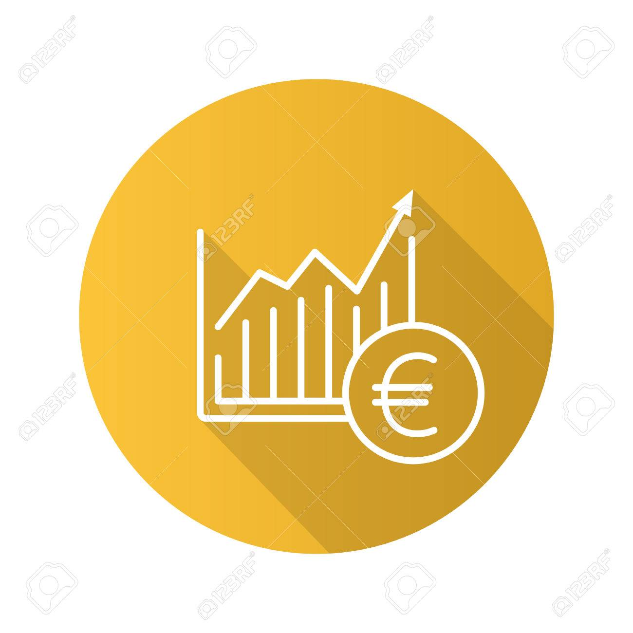 Market growth chart flat linear long shadow icon statistics diagram imagens market growth chart flat linear long shadow icon statistics diagram with euro sign vector outline symbol ccuart Choice Image