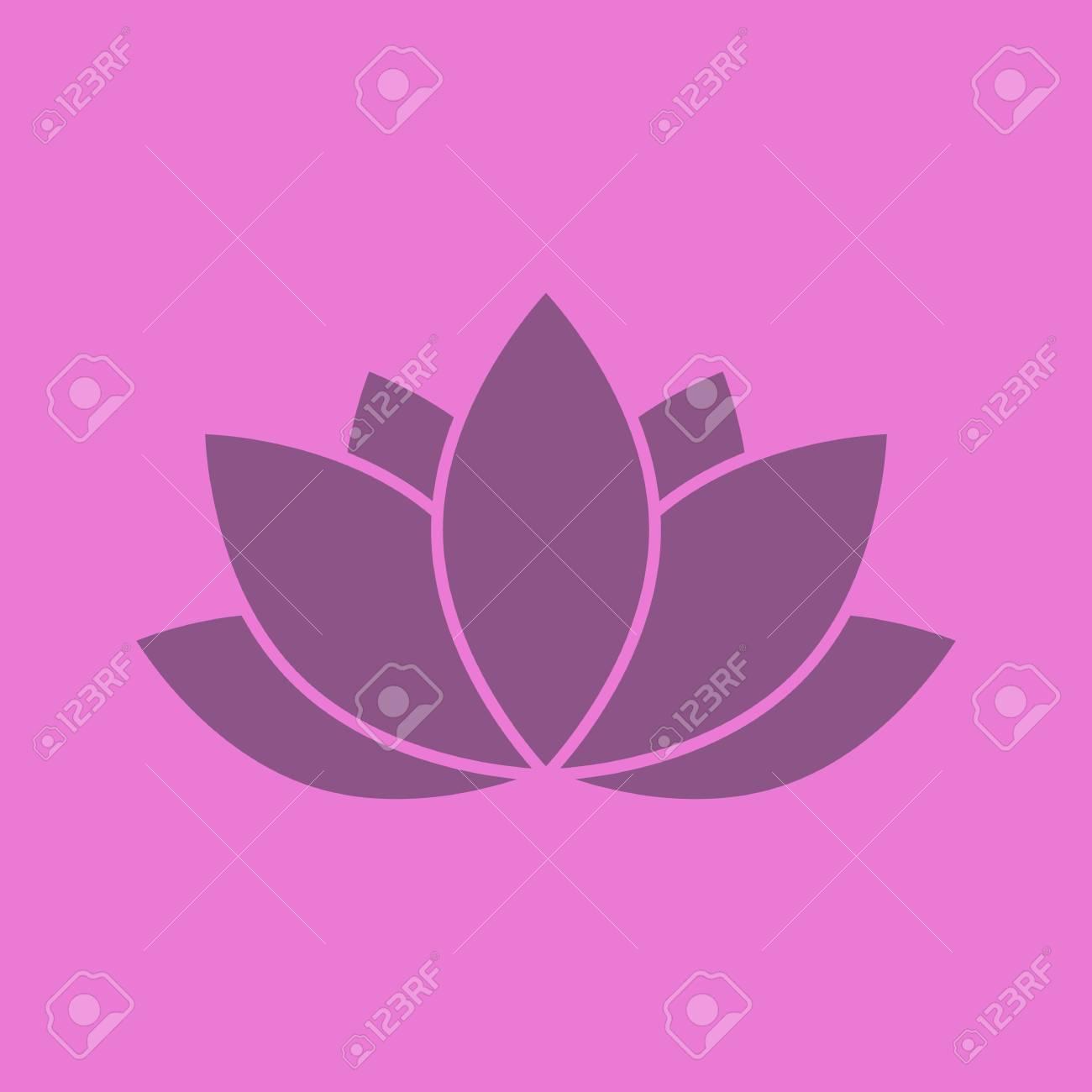 Lotus flower glyph color icon silhouette symbol negative space lotus flower glyph color icon silhouette symbol negative space vector isolated illustration stock izmirmasajfo Images