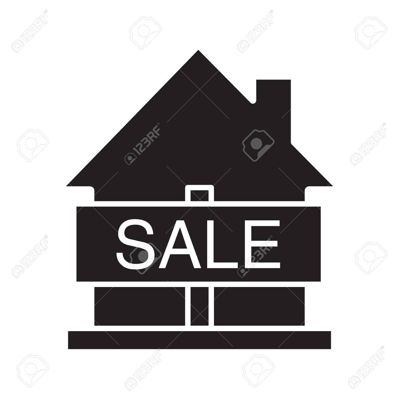 House for sale glyph icon silhouette symbol real estate market house for sale glyph icon silhouette symbol real estate market negative space biocorpaavc Image collections