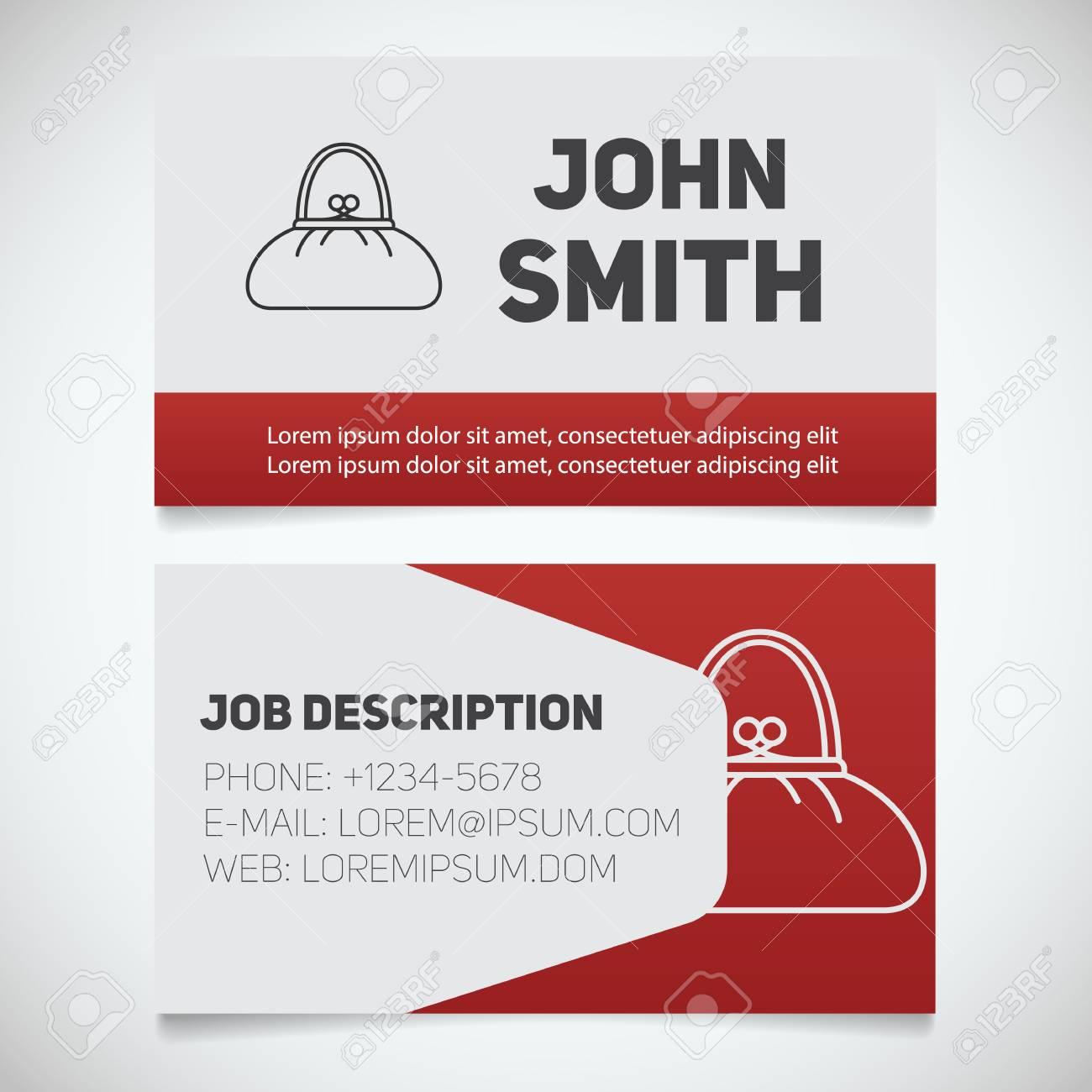 business card print template with purse logo women s handbags