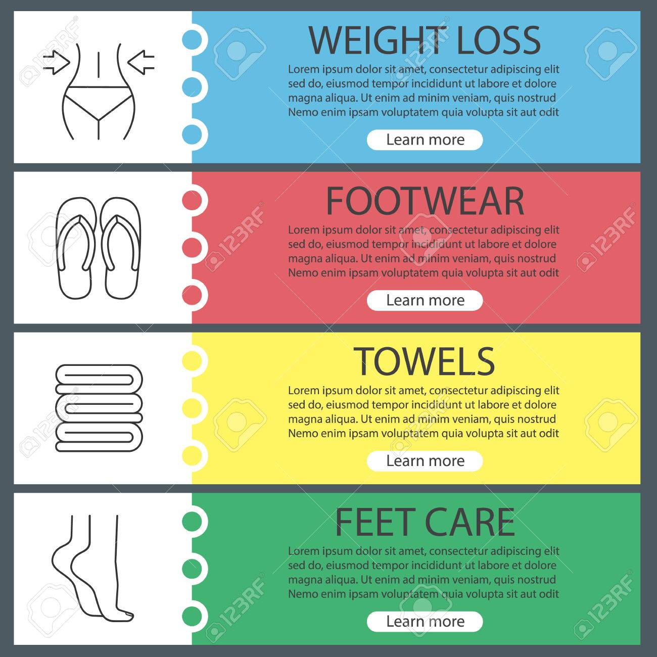Great Sample Spa Menu Template Images U003eu003e Customizable Design 84575522 Spa  Salon Web Banner Templates Set Woman S Waist And Feet Towels Flip Flops  Website ...