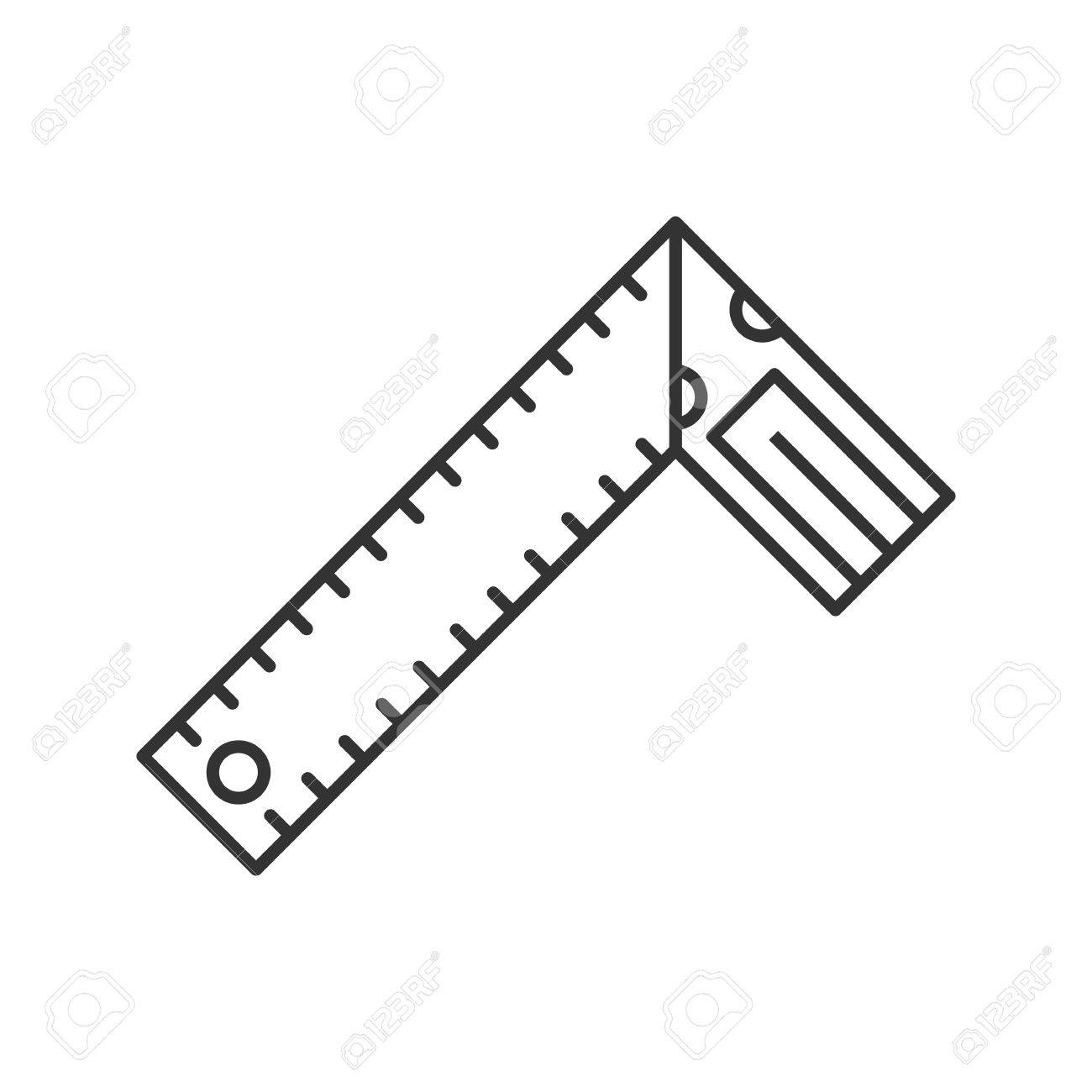 Set square linear icon construction tool thin line illustration set square linear icon construction tool thin line illustration bevel square contour symbol biocorpaavc