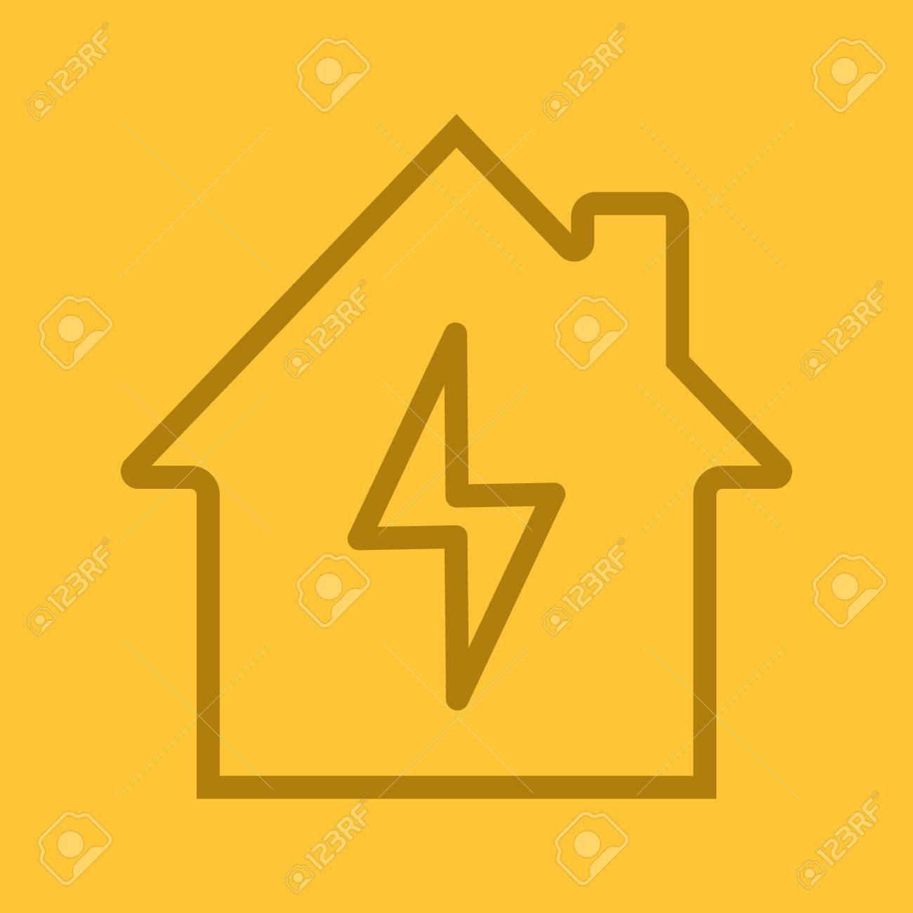 Home Elektrifizierung Linearen Symbol. Stromversorgungsunternehmen ...