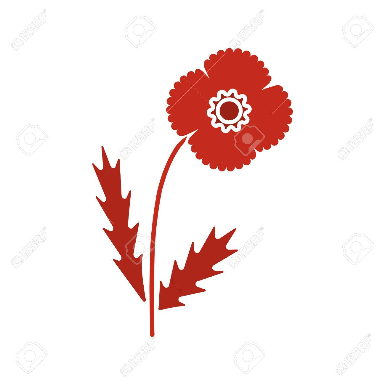 Poppy flower glyph color icon silhouette symbol on white poppy flower glyph color icon silhouette symbol on white background negative space vector buycottarizona