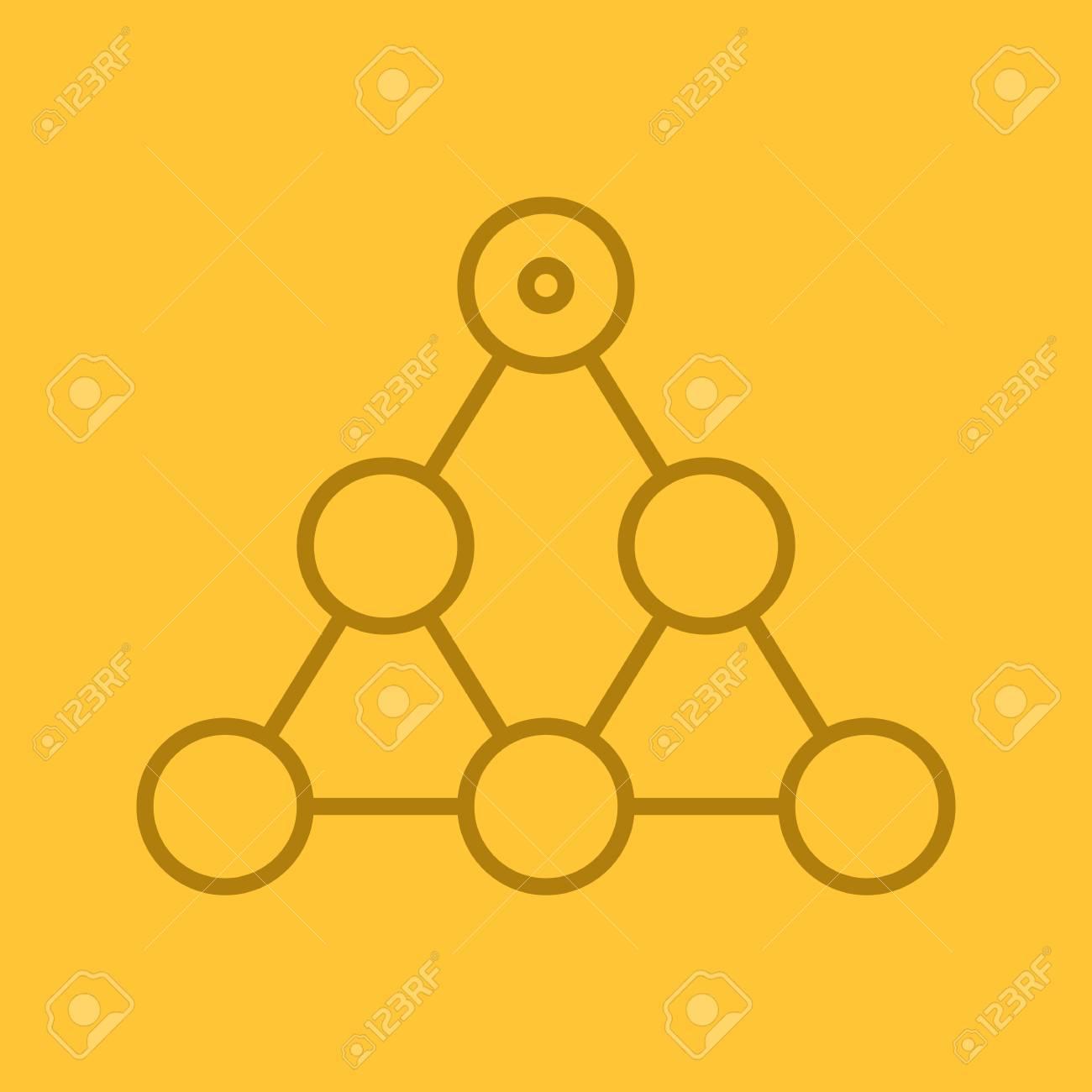 Icono Lineal De Jerarquía Equipo De Construcción Y Concepto De Estructura Delgada Línea De Símbolos De Esquema En El Fondo De Color Ilustración