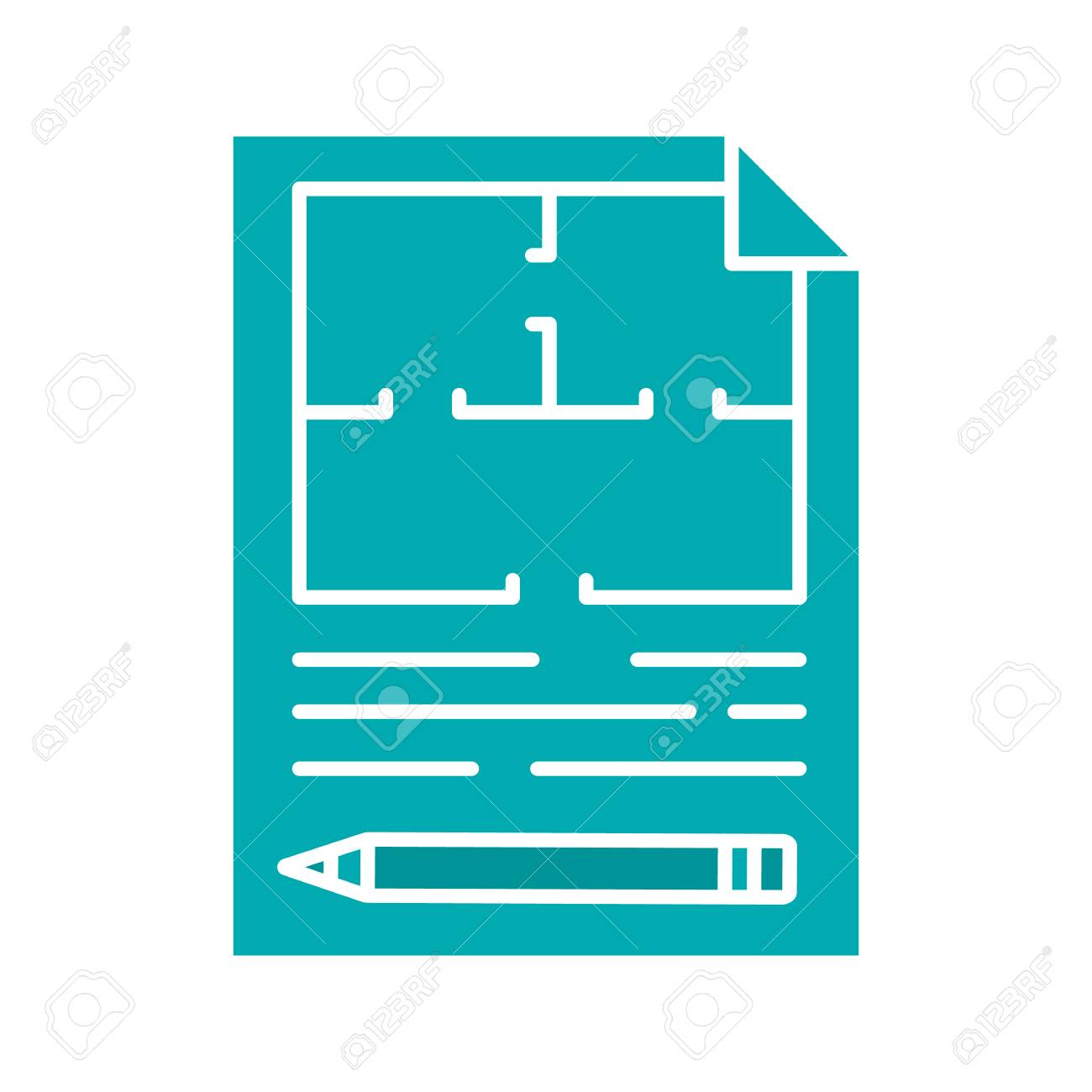 Free vector blueprint background clipart vector labs floor plan glyph color icon flat blueprint silhouette symbol rh 123rf com malvernweather Gallery