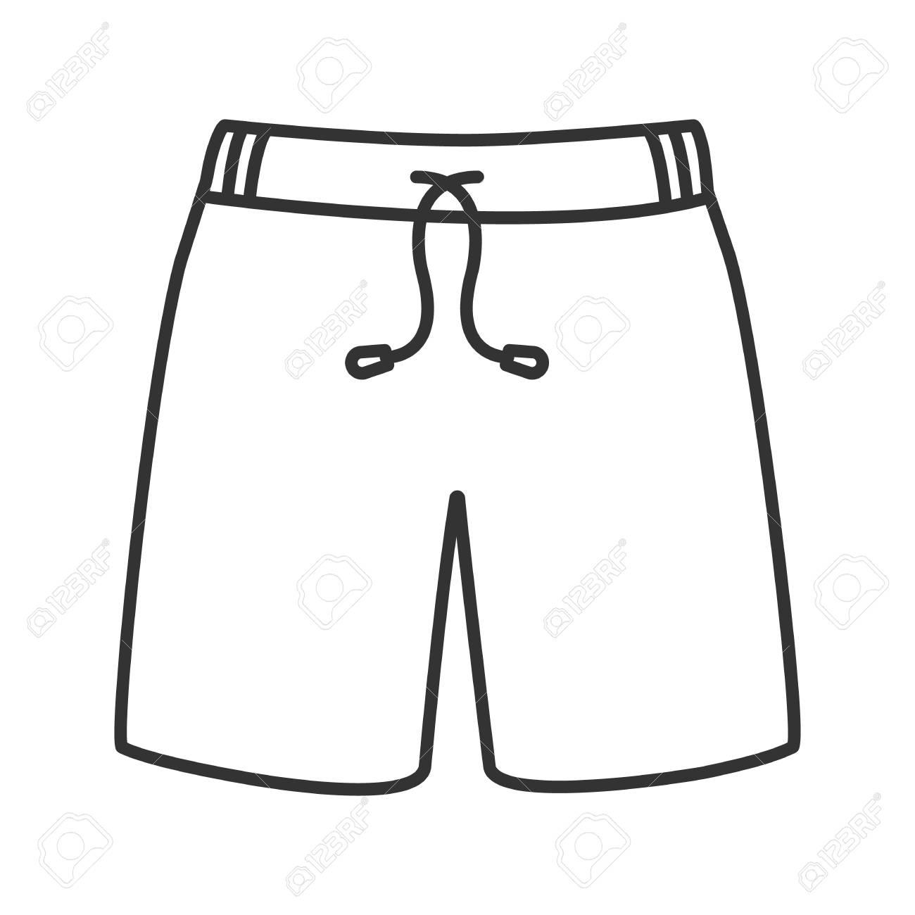 43849340d Foto de archivo - Icono lineal de troncos de natación. Ilustración de línea  delgada. Pantalones cortos deportivos. Símbolo de contorno Dibujo de  contorno ...
