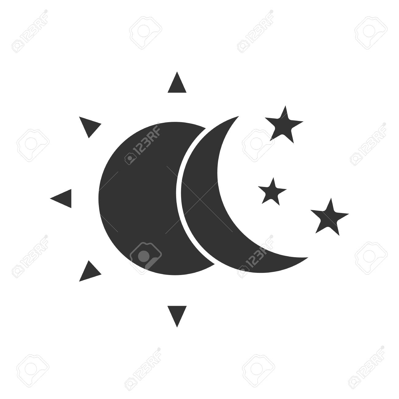 Sun and moon with stars glyph icon royalty free cliparts vectors sun and moon with stars glyph icon stock vector 87945688 biocorpaavc Images