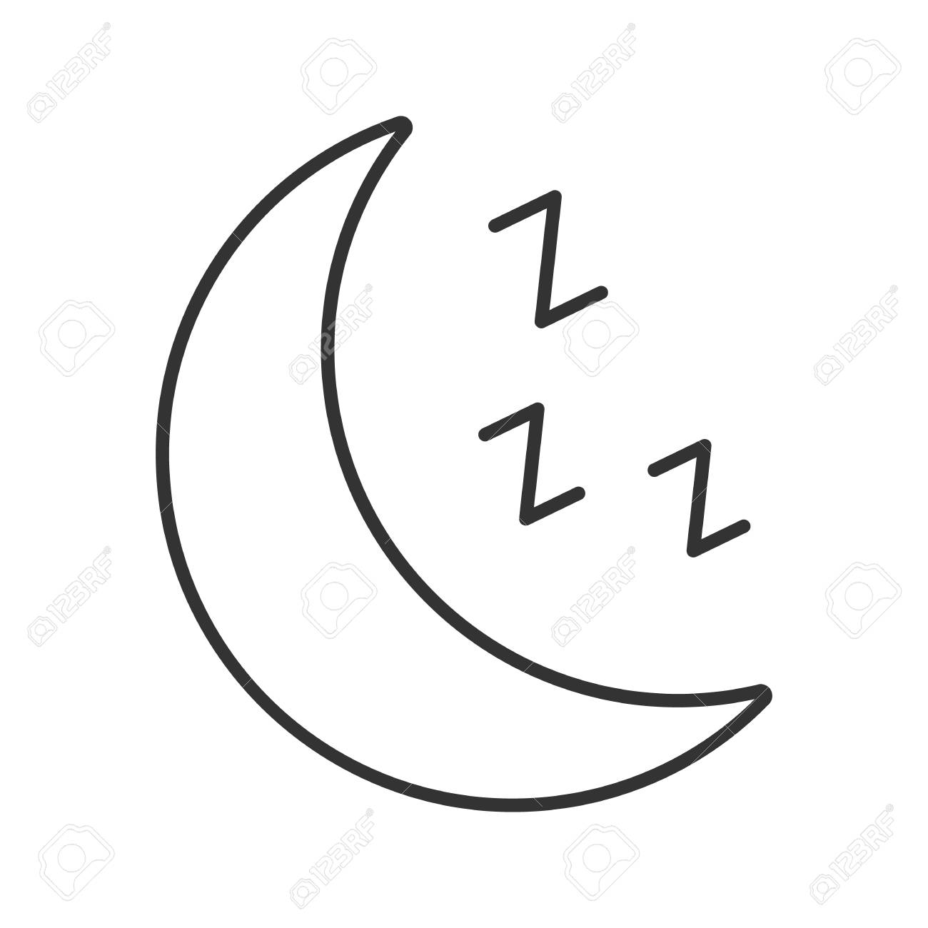 Zzz text symbol choice image symbol and sign ideas moon with zzz symbol linear icon bedtime thin line illustration moon with zzz symbol linear icon buycottarizona Choice Image